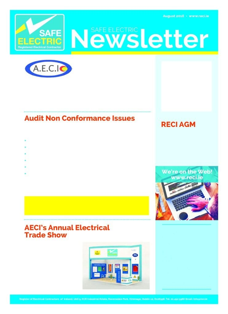 SAFE ELECTRIC - August 2016 Newsletter