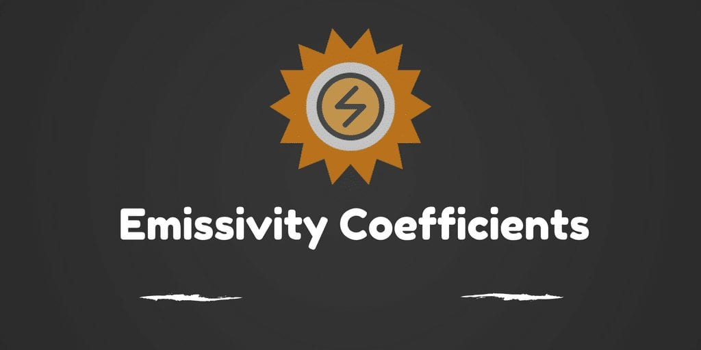 Emissivity Coefficients
